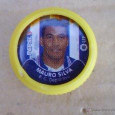 Coleccionismo de Coca-Cola y Pepsi: MAURO SILVA R.C.DEPORTIVO ROSCA DE PLÁSTICO CON LA FOTO DE JUGADORES DE PRIMERA DIVISIÓN.. Lote 52709331