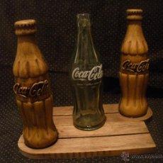 Coleccionismo de Coca-Cola y Pepsi: DOS BOTELLAS COCA COLA,PORTA MENUS,MUY BONITAS.. Lote 52926830