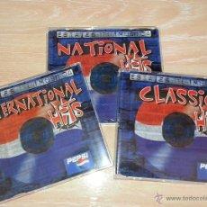 Colecionismo de Coca-Cola e Pepsi: ESTA ES TU MÚSICA - PEPSI - 3 CDS -CLASSIC HITS-NATIONAL HITS-INTERNATIONAL HITS- 1998 - SONY MUSIC. Lote 53030315