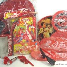 Coleccionismo de Coca-Cola y Pepsi: LOTE 10 ARTICULOS PROMOCION COCA-COLA-BANDEJA MOCHILA GAFAS CHANCLAS VASO MANOPLA .ETC COKE COCACOLA. Lote 53306017