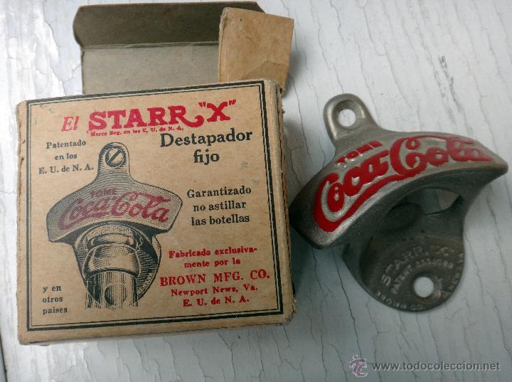 ABRIDOR DE PARED , ANTIGUO , BUEN ESTADO ,USA , AÑOS 1950 , COCA COLA , CON CAJA , ORIGINAL , G (Coleccionismo - Botellas y Bebidas - Coca-Cola y Pepsi)