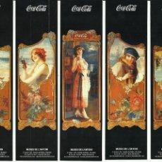 Coleccionismo de Coca-Cola y Pepsi: COLECCION DE MARCAPAGINAS DE LA CASA COCA COLA. Lote 237897820