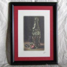 Coleccionismo de Coca-Cola y Pepsi: GRABADO DE COCA COLA COCACOLA ENMARCADO. Lote 53750001