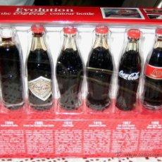 Coleccionismo de Coca-Cola y Pepsi: COCA COLA_ EVOLUTION- 6 MINI-BOTELLAS- MUSEO DE ATLANTA. Lote 53841535