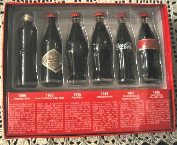 Coleccionismo de Coca-Cola y Pepsi: COCA COLA_ EVOLUTION- 6 mini-botellas- MUSEO DE ATLANTA - Foto 2 - 53841535