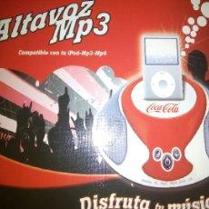Coleccionismo de Coca-Cola y Pepsi: ALTAVOZ MP3-IPOD COCA COLA. Lote 53984831