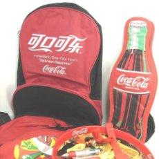 Coleccionismo de Coca-Cola y Pepsi: LOTE 7 ARTICULOS PROMOCION COCA-COLA-MOCHILA,ESTUCHE,BANDEJA,RELOJ,BOLI,LLAVERO ..ETC COKE COCACOLA. Lote 129553138