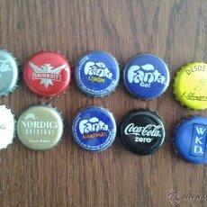 Coleccionismo de Coca-Cola y Pepsi: LOTE DE 10 CHAPAS DE BEBIDAS VARIADAS.. Lote 83890898