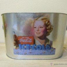 Coleccionismo de Coca-Cola y Pepsi: BARREÑO DE ZINC COCA-COLA, PARA HIELO. . Lote 54294064