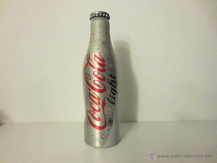 BOTELLA DE COCA-COLA LIGHT EN ALUMINIO SIN ABRIR. (Coleccionismo - Botellas y Bebidas - Coca-Cola y Pepsi)