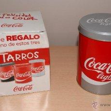 Coleccionismo de Coca-Cola y Pepsi: CAJA Y TARRO O BOTE DE COCA-COLA LIGHT EN METAL. SIN ESTRENAR, NUEVO.. Lote 54448697