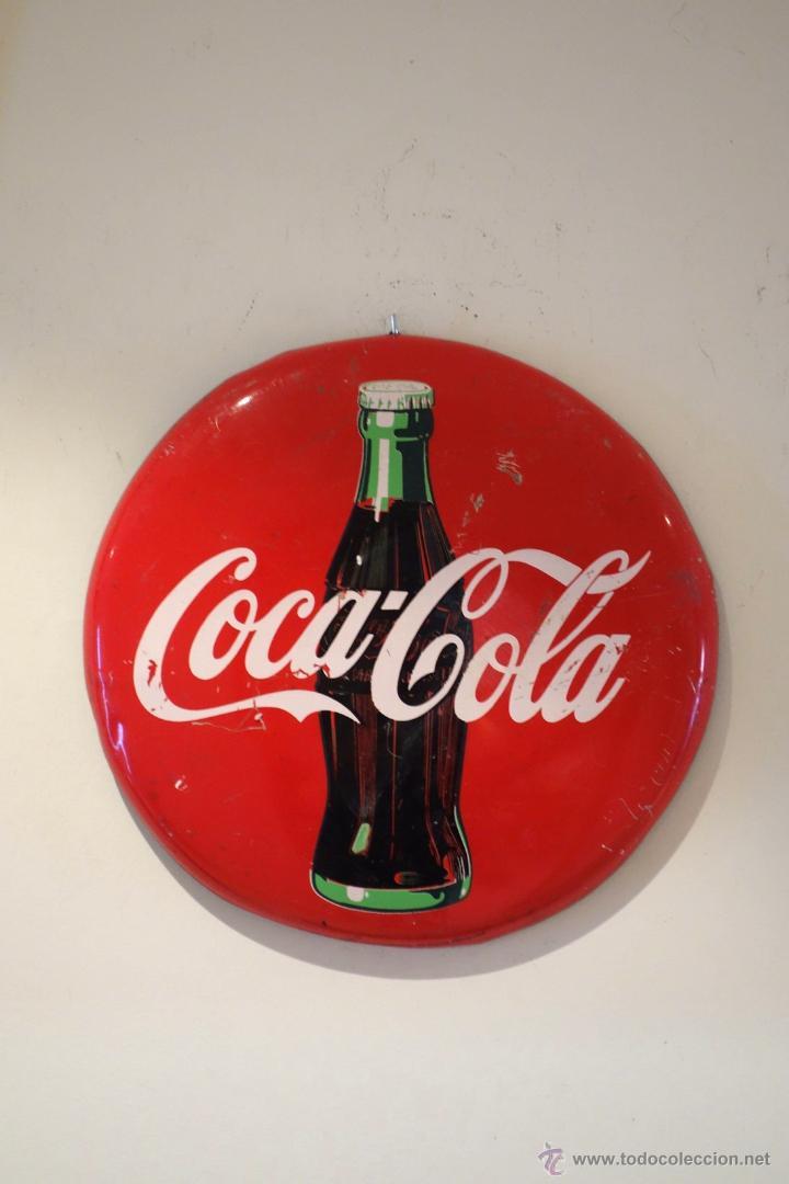 Chapa publicitaria de coca cola 1990 vintage po comprar - Chapa coca cola pared ...