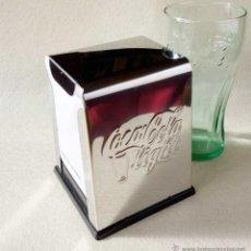 Coleccionismo de Coca-Cola y Pepsi: SERVILLETERO COCA COLA CROMADO. NUEVO. Lote 54622164