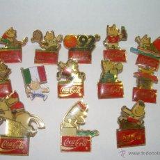 Coleccionismo de Coca-Cola y Pepsi: 13 PINS COCA COLA.....COBI OLIMPIADAS 92. Lote 54927416