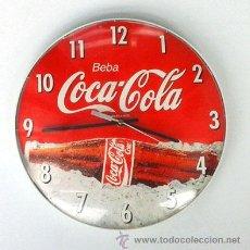 Coleccionismo de Coca-Cola y Pepsi: RELOJ DE PARED, PUBLICIDAD DE COCA-COLA. FUNCIONA. Lote 54942588