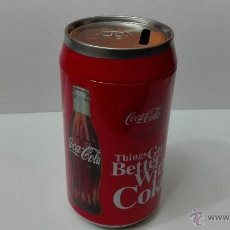 Coleccionismo de Coca-Cola y Pepsi: COCA COLA - HUCHA METALICA. (DIAMETRO 8 CM X 16 CM DE ALTO). Lote 54985719