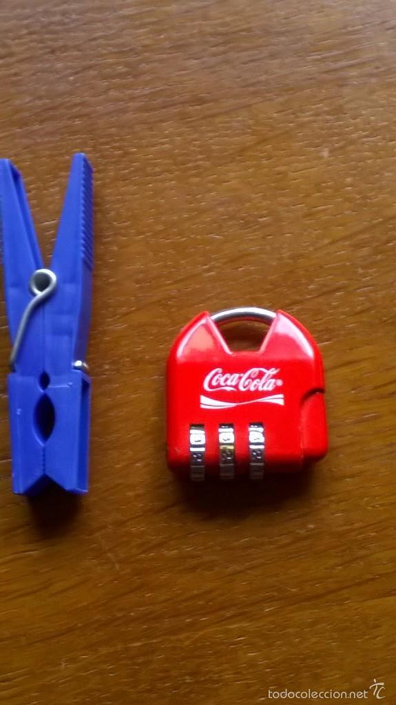 Coleccionismo de Coca-Cola y Pepsi: COCACOLA COLECCIÓN ORIGINAL CANDADO PEQUEÑO 4 CM ESTUPENDO ESTADO - Foto 2 - 55132321