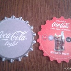Coleccionismo de Coca-Cola y Pepsi: POSAVASOS DE COCA COLA - COCA COLA LIGHT. Lote 122733723