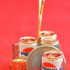 Coleccionismo de Coca-Cola y Pepsi: LOTE MINIATURA 4 LATAS PEPSI Y 7UP. Lote 55943581