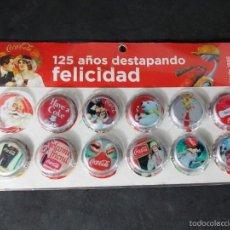Coleccionismo de Coca-Cola y Pepsi: EDICION ESPECIAL DE 12 TAPONES DE COCA COLA. Lote 58995596