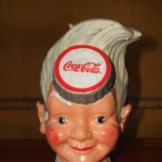 Coleccionismo de Coca-Cola y Pepsi: HUCHA COCA-COLA. HIERRO. SPRITE BOY CON SOMBRERO EXPENDEDOR DE SODA.. Lote 56016472