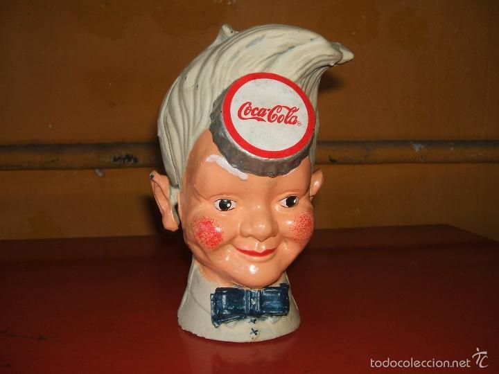 Coleccionismo de Coca-Cola y Pepsi: HUCHA COCA-COLA. HIERRO. SPRITE BOY CON SOMBRERO EXPENDEDOR DE SODA. - Foto 8 - 56016472