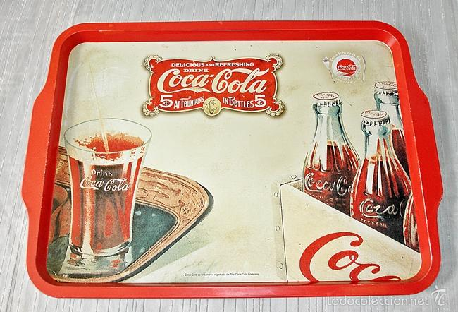 BANDEJA COCA COLA 48X35 (Coleccionismo - Botellas y Bebidas - Coca-Cola y Pepsi)