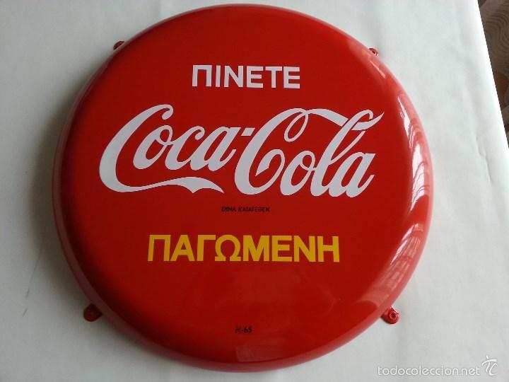 Coca cola placa chapa de grecia de 1965 greek c comprar - Chapa coca cola pared ...