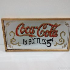 Coleccionismo de Coca-Cola y Pepsi: PRECIOSO Y ANTIGUO ESPEJO ENMARCADO . COCA COLA . COMPLETAMENTE ORIGINAL. Lote 56723437