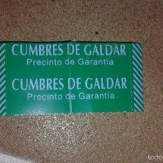 Coleccionismo de Coca-Cola y Pepsi: PRECINTO BOTELLA AGUA GRAN CANARIA CUMBRES DE GALDAR. Lote 56881807