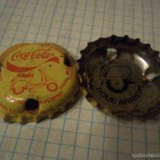 Coleccionismo de Coca-Cola y Pepsi: RARISIMA Y DIFICIL CHAPA COCA COLA AFRICAN SOBOA SENEGAL TRASERA ROUE ARRIERE MOTOCYCLE 2006. Lote 57123313