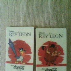 Coleccionismo de Coca-Cola y Pepsi: IMANES EL REY LEON COCA-COLA PUMBA Y ZAZÚ.. Lote 57132127