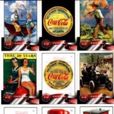 Coleccionismo de Coca-Cola y Pepsi: CROMO USA (TRADING CARD) COCA COLA LOTE 40/50, SPRINT 1996, PLÁSTICO TRANSPARENTE COKE - NUEVAS - CL. Lote 57460306