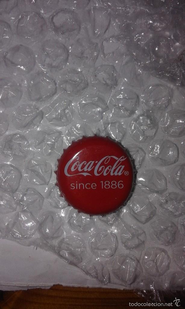 VENDO CHAPA DE CORONA DE REFRESCO COCA COLA CROWN CAP TAPÓN - SINCE 1886 ANIVERSARIO. (Coleccionismos - Coca-Cola y Pepsi)
