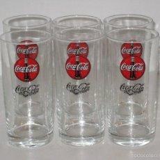 Coleccionismo de Coca-Cola y Pepsi: SEIS VASOS DE COCA COLA. Lote 58125888