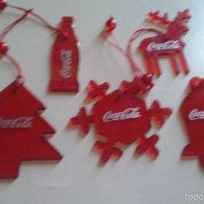 Coleccionismo de Coca-Cola y Pepsi: ADORNOS PARA COLGAR COCA COLA. Lote 58228449