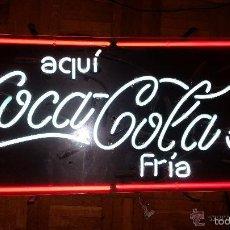 Coleccionismo de Coca-Cola y Pepsi: CARTEL NEON LUMINOSO PUBLICIDAD COCA-COLA-NEON AÑOS 80 FUNCIONANDO PERFECTAMENTE. Lote 117617884