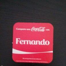 Coleccionismo de Coca-Cola y Pepsi: POSAVASOS COCA COLA NOMBRE FERNANDO. Lote 58350747