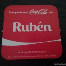 Coleccionismo de Coca-Cola y Pepsi: POSAVASOS COCA COLA CON NOMBRE RUBEN. Lote 77722833