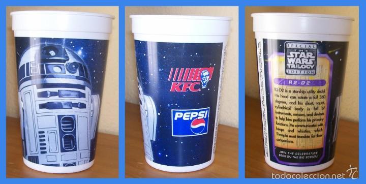VASO DE PLASTICO DURO HDPE STAR WARS R2-D2. PEPSI / KFC. LA GUERRA DE LAS GALAXIAS (Coleccionismo - Botellas y Bebidas - Coca-Cola y Pepsi)