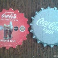 Coleccionismo de Coca-Cola y Pepsi: POSAVASOS DE COCA COLA - COCA COLA LIGHT. Lote 122733706