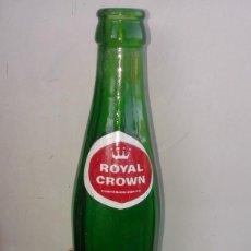Coleccionismo de Coca-Cola y Pepsi: VENDO ANTIGUA BOTELLA BOTELLIN DE REFRESCO ROYAL CROWN COLOR VERDE GASEOSA. AÑOS 70. Lote 125169518