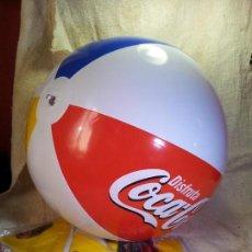Coleccionismo de Coca-Cola y Pepsi: BALON PELOTA DE PLAYA HINCHABLE COCA COLA Y BURGER KING--AÑOS 90 SIN USO. Lote 89606727