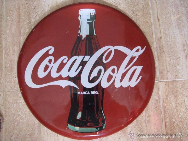 CHAPA CIRCULAR DE PARED PUBLICIDAD COCA-COLA 40 CM. - (Coleccionismo - Botellas y Bebidas - Coca-Cola y Pepsi)