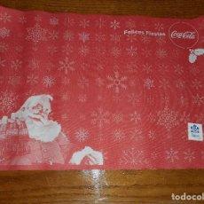 Coleccionismo de Coca-Cola y Pepsi: SALVA MANTEL COCA-COLA - FELICES FIESTAS - COCACOLA 32 X 47'5 - PAPA NOEL. Lote 61629152
