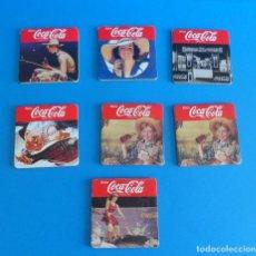Coleccionismo de Coca-Cola y Pepsi: LOTE DE POSAVASOS COCACOLA CON IMAGEN VINTAGE - CARTÓN DURO Y CORCHO.. Lote 50342851