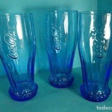 Coleccionismo de Coca-Cola y Pepsi: TRES VASOS DE COCA COLA. ALTURA 15 CM. Lote 62374428