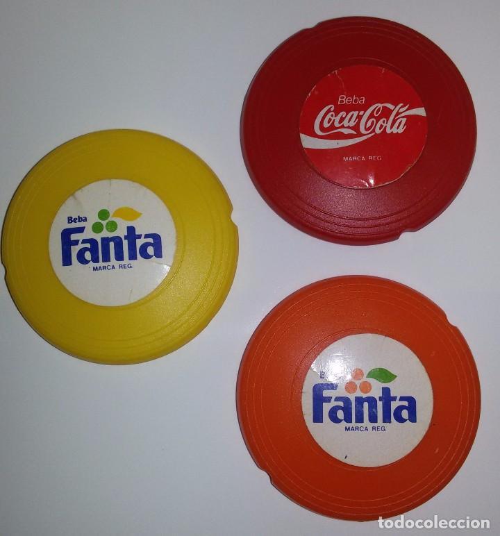 Coleccionismo de Coca-Cola y Pepsi: MINI FRISBEES PROMOCIÓN COCA COLA Y FANTA -COMPLETO- AÑOS 80 - Foto 7 - 62646764