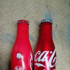 Coleccionismo de Coca-Cola y Pepsi: DOS BOTELLAS SIN ABRIR COCA COLA ALUMINIO EDICION ESPECIAL 125 ANIVERSARIO Y JACOBEO 2010. Lote 134281401
