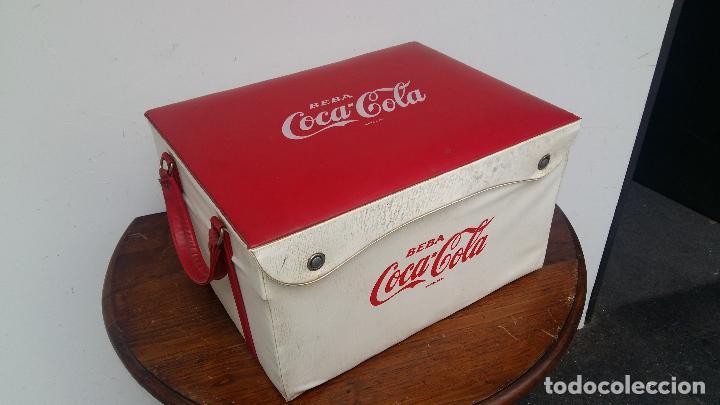 NEVERA PORTATIL AÑOS 60 O 70. (Coleccionismo - Botellas y Bebidas - Coca-Cola y Pepsi)